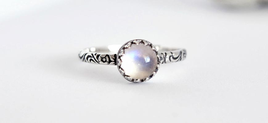 moonstone silver ring