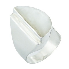 Fabulous Shell 925 Silver Jewelry Mother Of Pearl Silver Ring