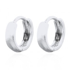 Little Circle Silver Plated Hoop Earrings
