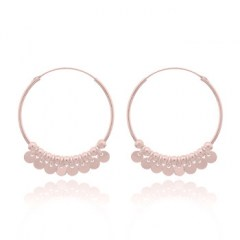 Rose Gold Plated Shaker Hoop Earrings