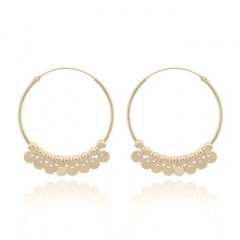 Yellow Gold Plated Shaker Hoop Earrings