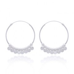 Sterling Silver Shaker Hoop Earrings