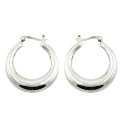 30mm Sterling Silver Hoop Earrings With French Locks