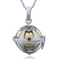 Planet Silver Replica Antique Design Harmony Ball Pendant