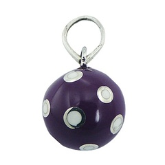 Violet Small Harmony Ball Pendant Silver White Cute Dots