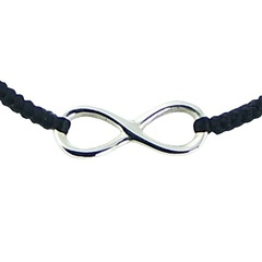 Handcrafted Sterling Silver Infinity Macrame Bracelet