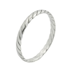 Twisted and antiqued stackable silver ring 2.5 mm