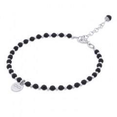 Agate & Silver Beads Bracelet with Infinity Charm