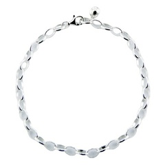 925 sterling silver rolo chain bracelet for charms