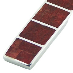 mosaic silver pendant six coral squares 2