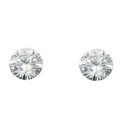 Gorgeous classy cubic zirconia polished sterling silver stud earrings