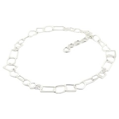 Playful sterling silver necklace with a mix of open shapes