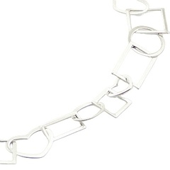 Playful sterling silver necklace with a mix of open shapes 3