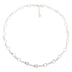 Sterling silver necklace with smooth twisted circles for any outfit