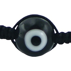 Black agate and evil eye shamballa bracelet 2