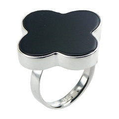 silver-gemstone-rings/feminine-softly-rounded-black