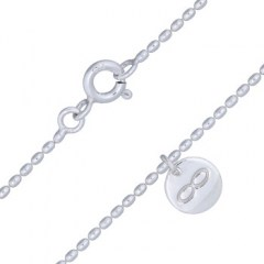Silver Bead Ball Infinity Disc Charm Anklet
