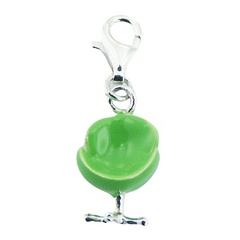 Enameled 925 Sterling Silver Charm Nostalgic Sixties Chair