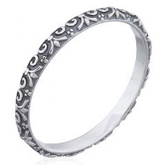 Classic Vectors Crown 925 Silver Oxidized Rings