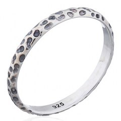 Pattern Of Rock 2 mm Thinness Silver 925 Rings
