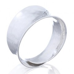 Hammered Silver Plain Adjustable Rings