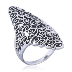 Swirls and Twirls Sterling Silver Ring