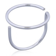 Minimalist Open Circle Silver Wire Ring