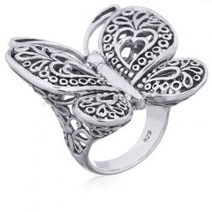 Butterfly Statement Ring in Sterling Silver
