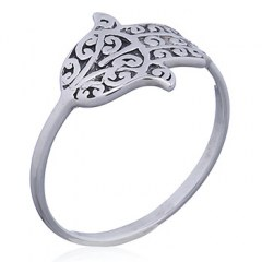 925 Silver Hamsa Hand of Fatima Ring