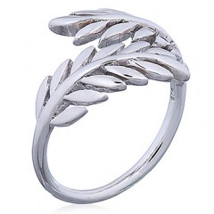 Laurel Crown Open Silver Ring