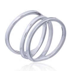 Asymmetrical Triple Loop Silver Ring