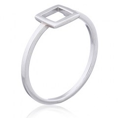 Open Square 925 Sterling Silver Ring