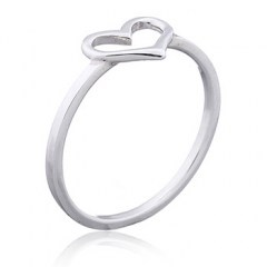 Open Heart 925 Silver Ring