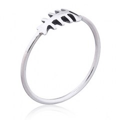 Fish Bones 925 Sterling Silver Ring