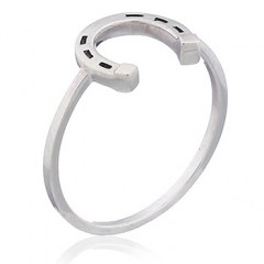 Lucky Horseshoe 925 Sterling Silver Ring