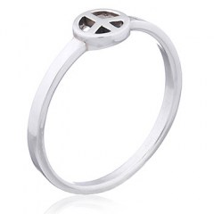 Peace Symbol 925 Sterling Silver Ring