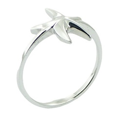 Starfish Ring in Polished Sterling Silver