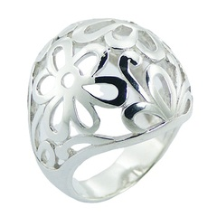 Open Daisies Ajoure 925 Sterling Silver Flower Designer Ring