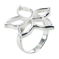 925 Silver Flower Ring Openwork Unique Planet Silver Design