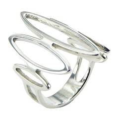 925 Silver Ring Open Marquise Shapes Sophisticated Look