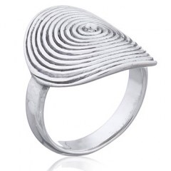925 Silver Ring Original Round Melting Off The Band Spiral