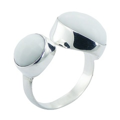 White Hydro Quartz 925 Silver Ring Elegant Quartz Jewelry