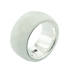 Handmade Hydro Quartz Band Sterling Silver Ring