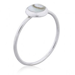 Simple yet Classy Sterling Silver Shiva Eye Shell Ring