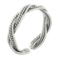 Double-braided New Fashion Silver Toe Ring