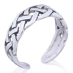 Double Braided Celtic Sterling Silver Toe Ring
