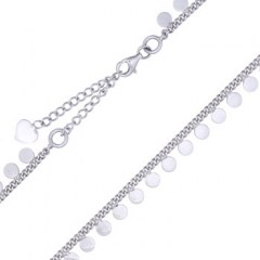 Sterling Silver Coin Disc Choker
