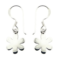 Sterling Silver Silhouettes Of Mini Flowers Earrings