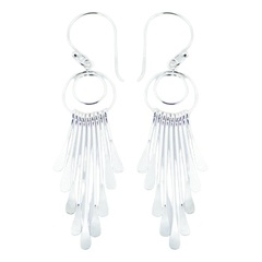 Unmatched Brilliance Plain 925 Silver Chandelier Earrings