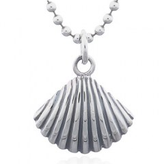 Sterling 925 Silver Cockle Shell Pendant